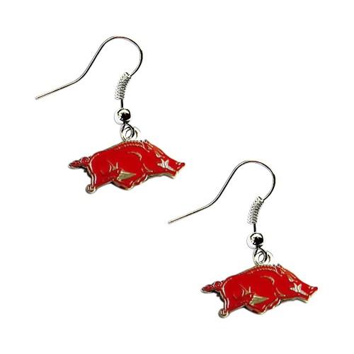 Arkansas Razorbacks Dangle Logo Earring Set Charm Gift