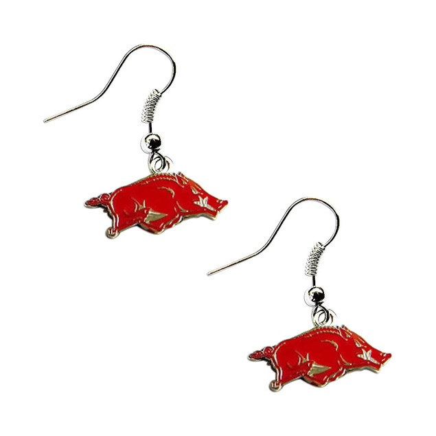 Arkansas Razorbacks Dangle Logo Earring Set Charm Gift