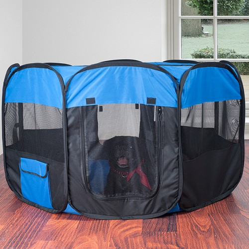 Pop-Up Playpen - 42 in. x 25 in. Portable Octagon Exercise Enclosure