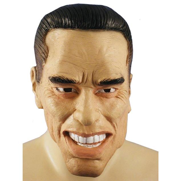 Arnold Schwarzenegger Mask Terminator Governer Adult Full Halloween Costume