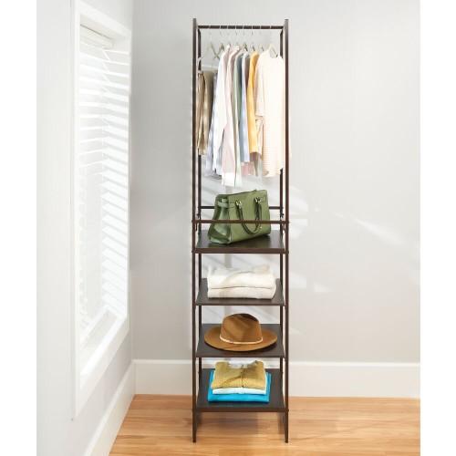 mDesign Closet Furniture Storage Garment Rack w/ 4 Shelves