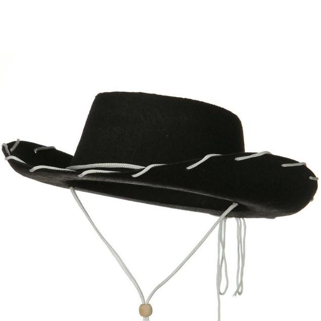 Black Felt Cowboy Child Hat