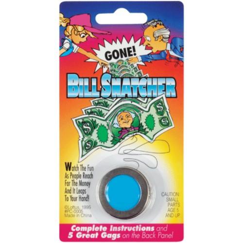 Bill Snatcher Metal Dollar Money Magik Trick Gag Joke Magic Assorted Colors