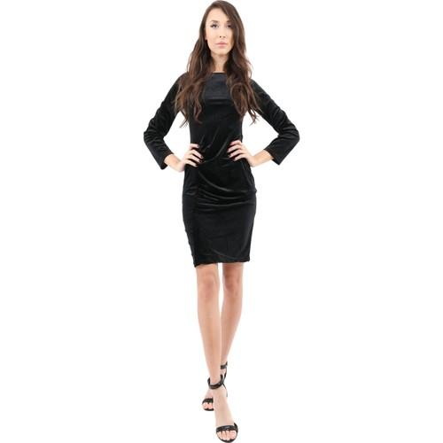 Stuart Velvet Long Sleeve Little Black Dress