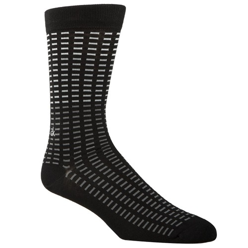 Calvin Klein Men's Tile-Print Socks Black Size Regular