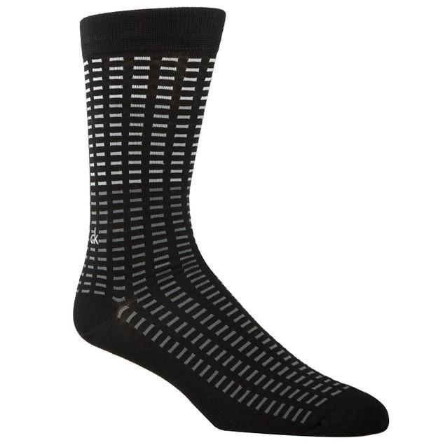 Calvin Klein Men's Tile-Print Socks Black Size Regular