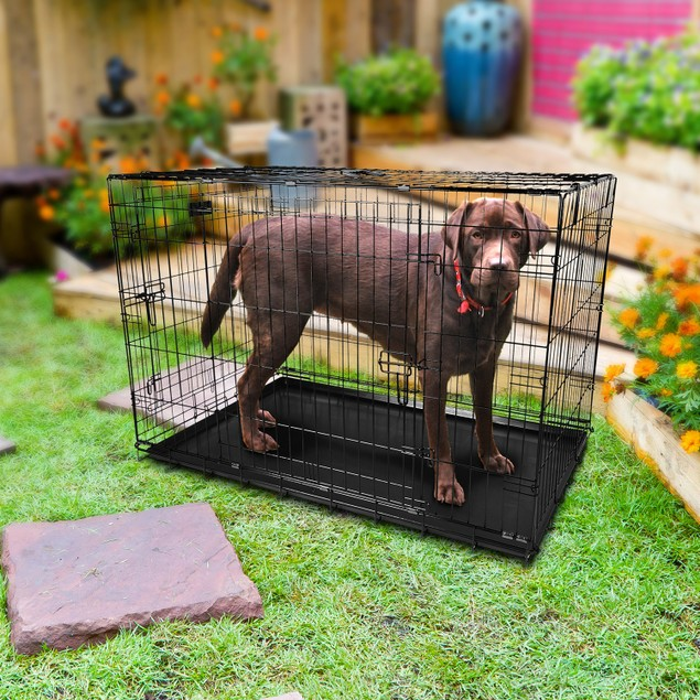42inches Dogs Crate Folding Metal Pets Crates