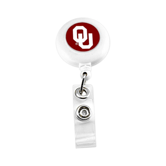 Oklahoma Sooners Retractable Badge Reel Id Ticket Clip