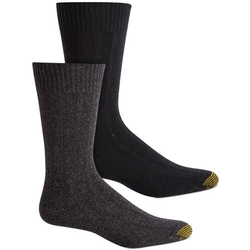 Gold Toe Men's 2-Pk. Socks Black Size Regular