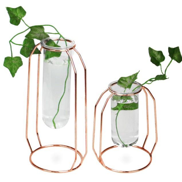 Rose Gold Centrepiece Flower Vases - Set of 2 | MandW
