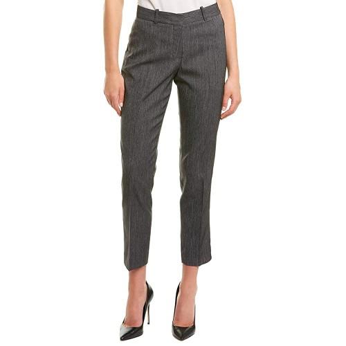 Tahari Asl Women's Straight-Leg Career Pants Gray Size 18