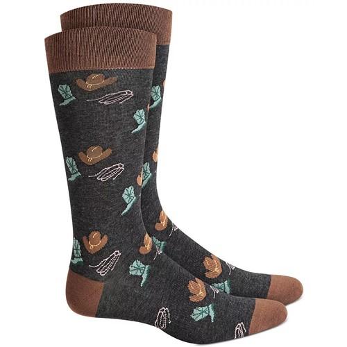 Bar III Men's Western Socks Black Size Regular