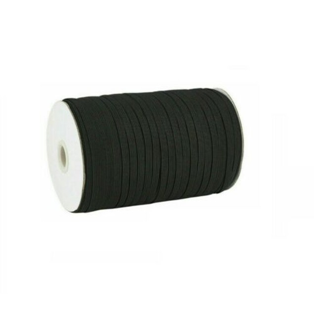 50 Yard 1/4 Inch 6mm Wide Elastic String Cord Bands Rope for Sewing Crafts DIY Mask (1/4 Inch 50 Yards) (Black)