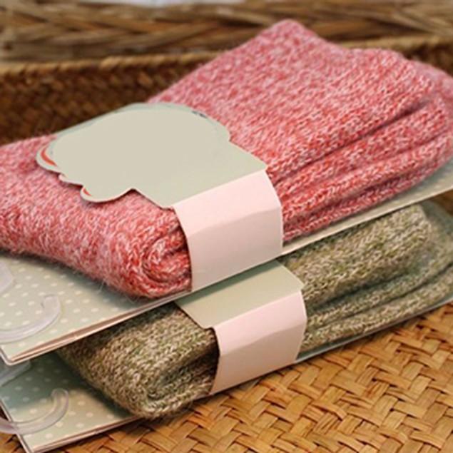5 Pairs Women Winter Thick Warm Woolen Yarn Solid Sports Socks
