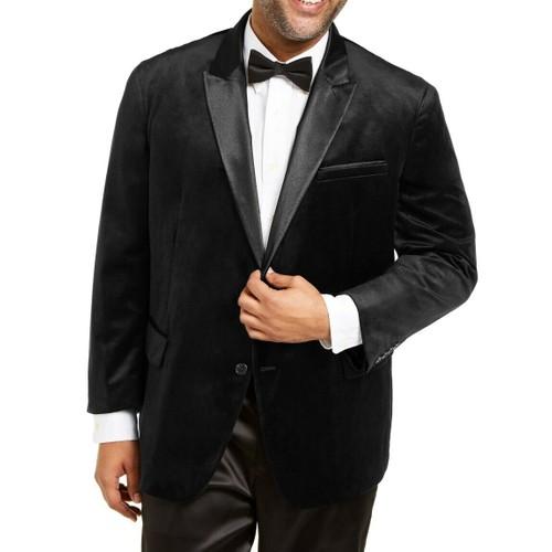 INC International Concepts Mason Slim-Fit Velvet Blazer Black Size 3XB