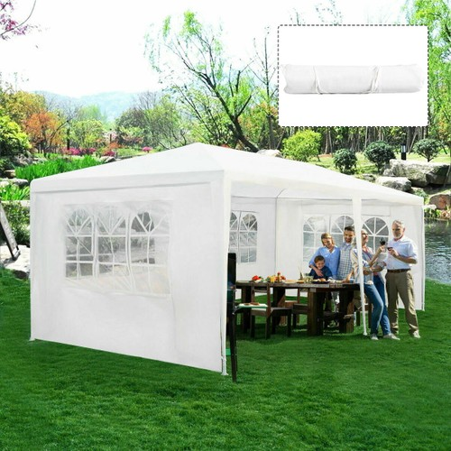 Costway Outdoor 10'x20' Canopy Tent Heavy Duty Wedding Party Sidewalls Wind
