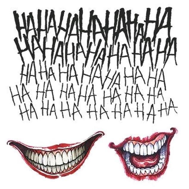 Joker Tattoo Kit Suicide Squad Jared Leto DC Movie Harley Quinn Batman