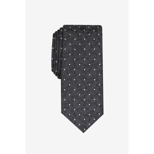 Bar III Men's Iris Skinny Floral Dot Tie Black One Size