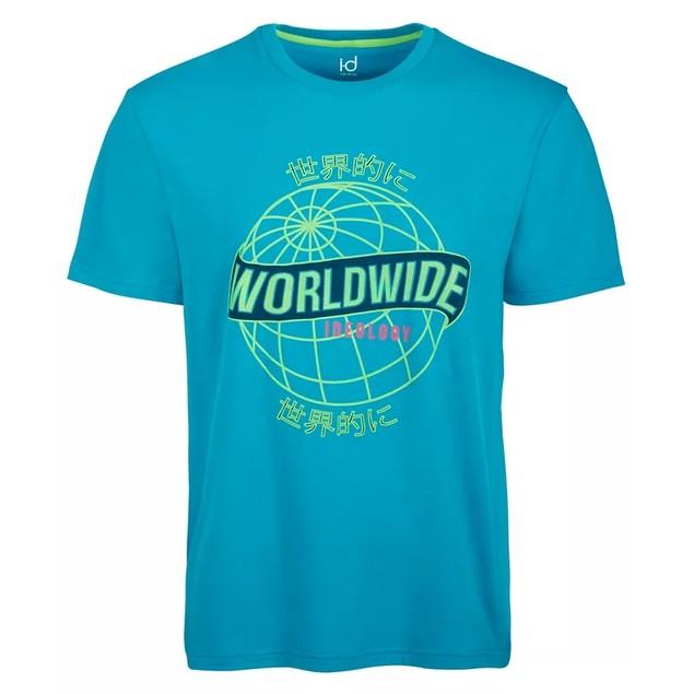 ID Ideology Men's Graphic T-Shirt Blue Size X-Large