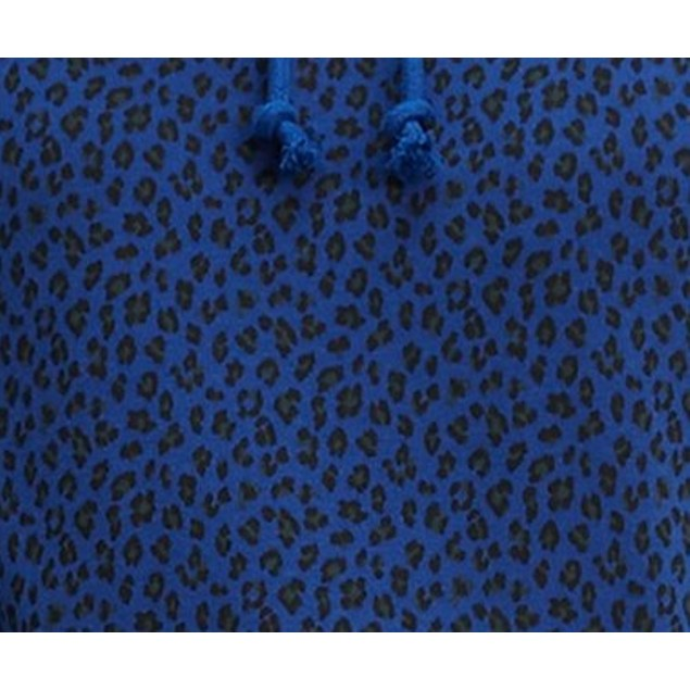 Levi's Women's Animal Print Logo Hoodie Blue Size X-Small