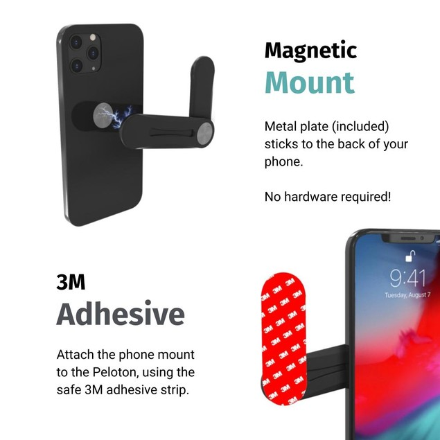 Computer Screen Magnet Phone Mount, No Assembly Required