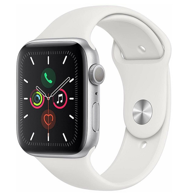 Apple Watch Series 5 40mm GPS Aluminum Silver Case with White Sport Band - Grade B