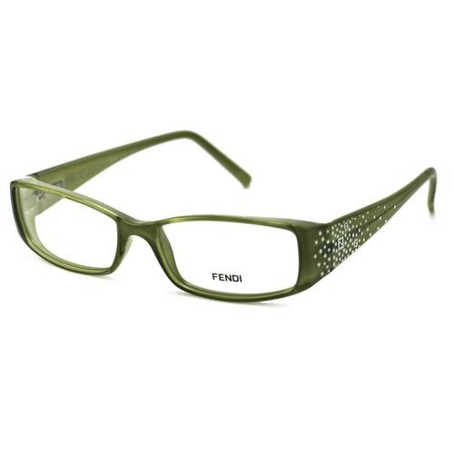 Fendi Women's Eyeglasses F817 316 Light Green 53 16 135 Full Rim Rectangular