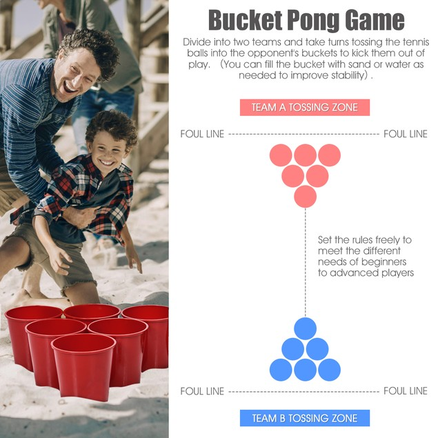GoPlus Giant Outdoor Yard Pong Game with Carry Bag