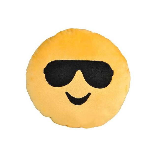 Sunglasses Smile Yellow Emoji Pillow