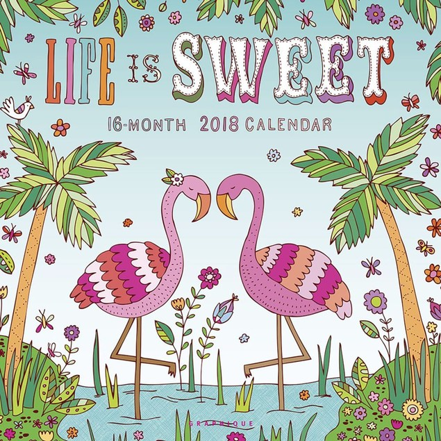 Life is Sweet Wall Calendar, Women's Interests by Calendars