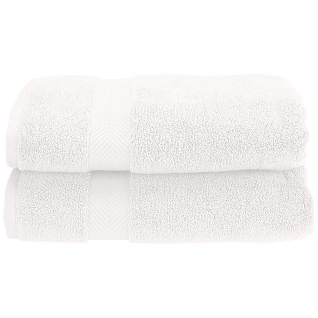 2-Piece Bath Towel Set, Absorbent Zero twist Cotton