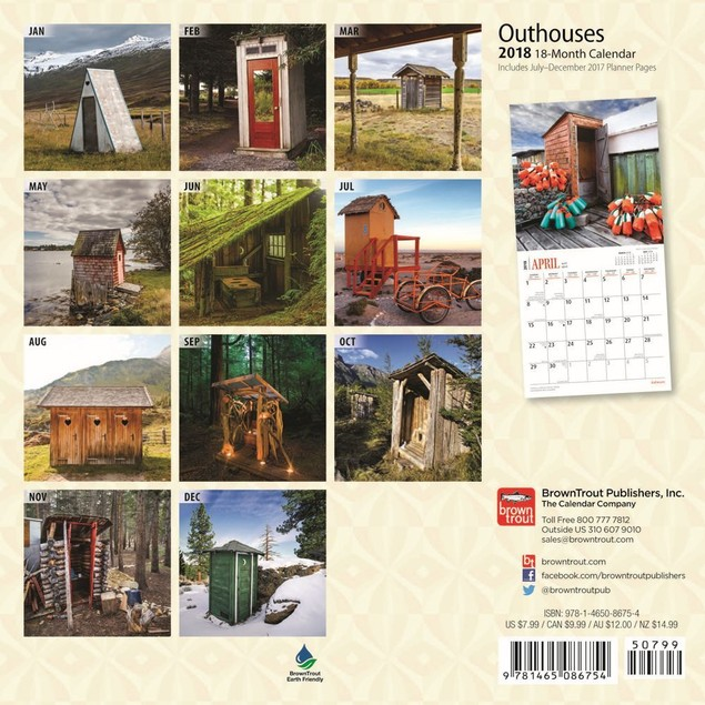 Outhouses Mini Wall Calendar,  by Calendars