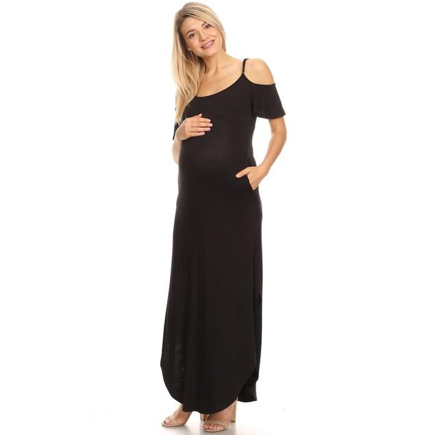 Maternity Reta Maxi Dress - 9 Colors - Extended Sizes