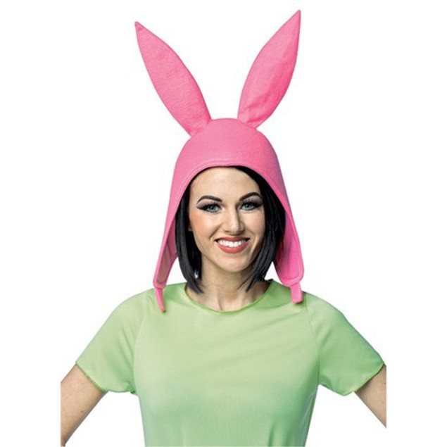 Louise Deluxe Hat Bob's Burgers Bunny Ears Pink Costume TV Show Fun Cartoon