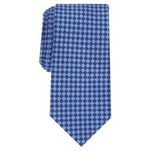 Perry Ellis Men's Bayou Mini-Check Tie Navy Size Regular
