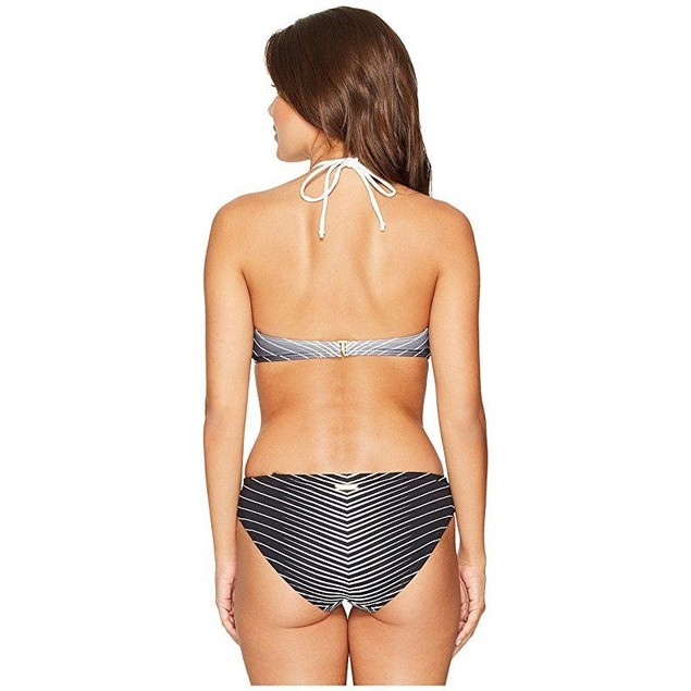 Vince Camuto Women's Miter Stripes High Neck Monokini Black 10