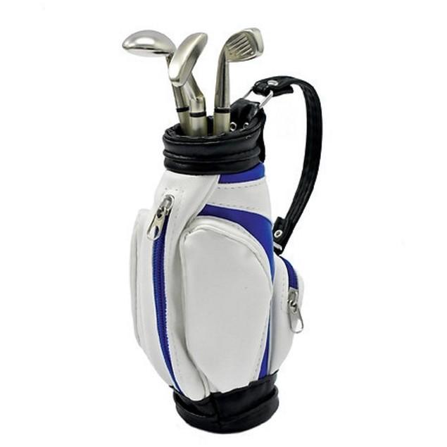 Dashing Fine Gifts Mini Golf Pen Set w/ Miniature Golf Bag & 3 Black Ink