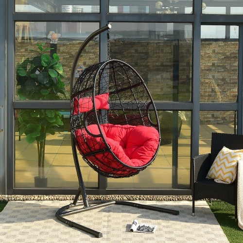 Hammock Chair with Cushions & Stand