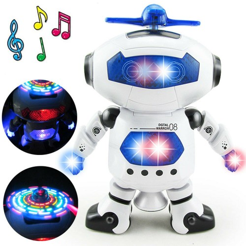 Dancing Robot Toys For Boys Kids Toddler Musical Light Toy Gift