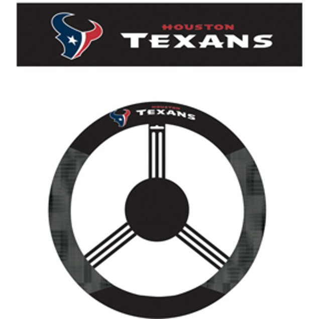 Houston Texans Steering Wheel Cover NFL Football Team Logo Poly Mesh