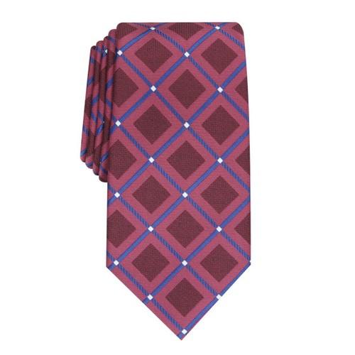 Perry Ellis Men's Hendry Grid Tie Red Size Regular