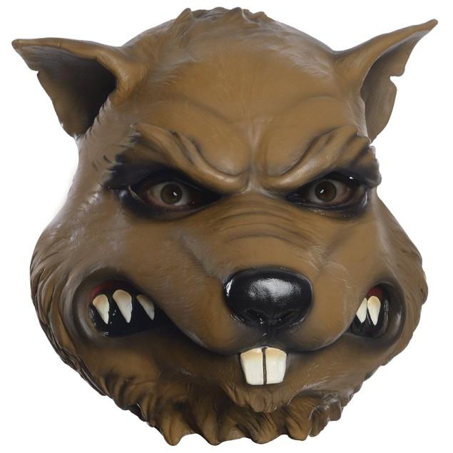 Splinter Mask Teenage Mutant Ninja Turtles TMNT Rat Head Costume Face Adult