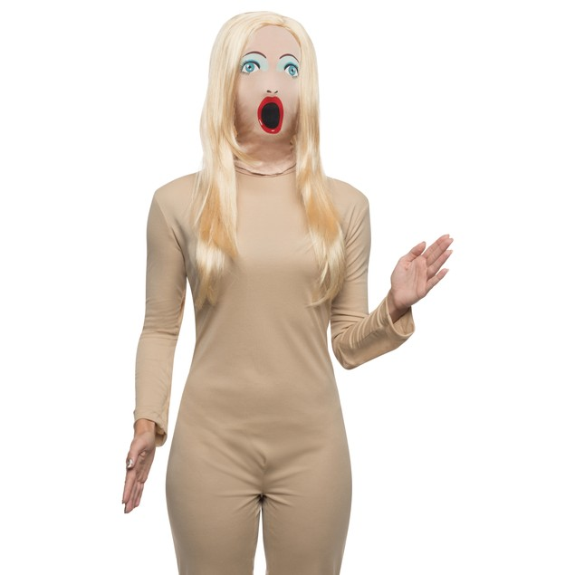 Blow Up Doll Mask With Wig