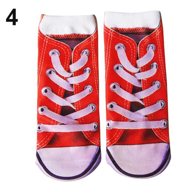 1 Pair Cool Vivid 3D Printed Patterns Anklet Socks Hosiery