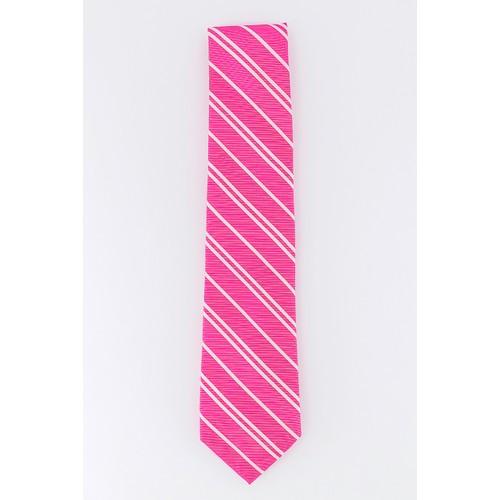 Tommy Hilfiger Men's Flatiron Stripe Tie Pink One Size