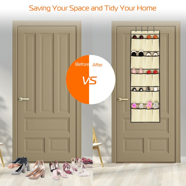 10-Pair Shoes Organizer  Over the Door Shoes Rack