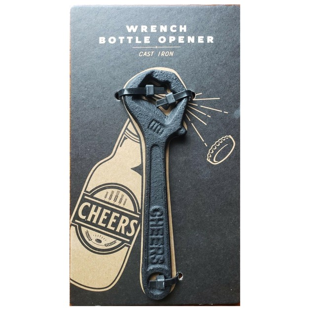 Bell & Curfew Wrench Bottle Opener, The Right Tool for The Job, Black