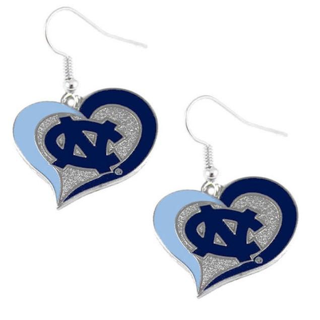 NCAA Swirl Heart Dangle Logo Earring Set Charm Gift