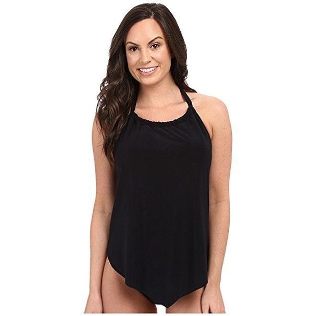 Magicsuit Women's Solids Nicole Tank Top Black Swimsuit Top SIZE 14