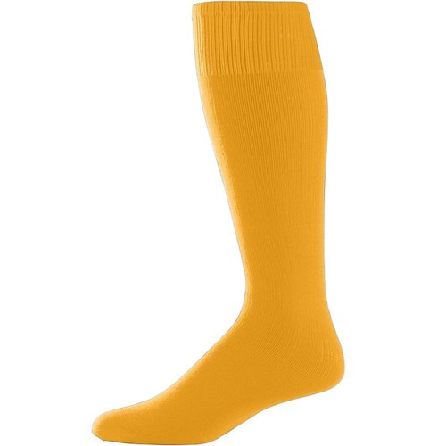 Gold Adult Sport Socks (Pair) Mens Womans Athletic Sports Baseball Softball